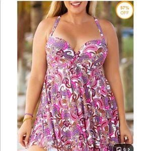 Other - Modlily Paisley Print Swim Dress and Bottom